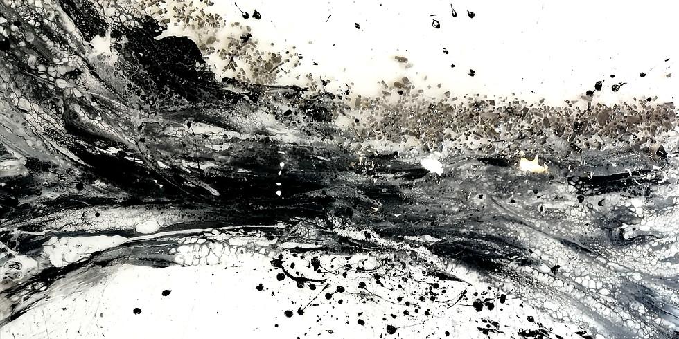 Création d'une oeuvre grand format avec médium de coulage - Inspiration Mélanie Poirier