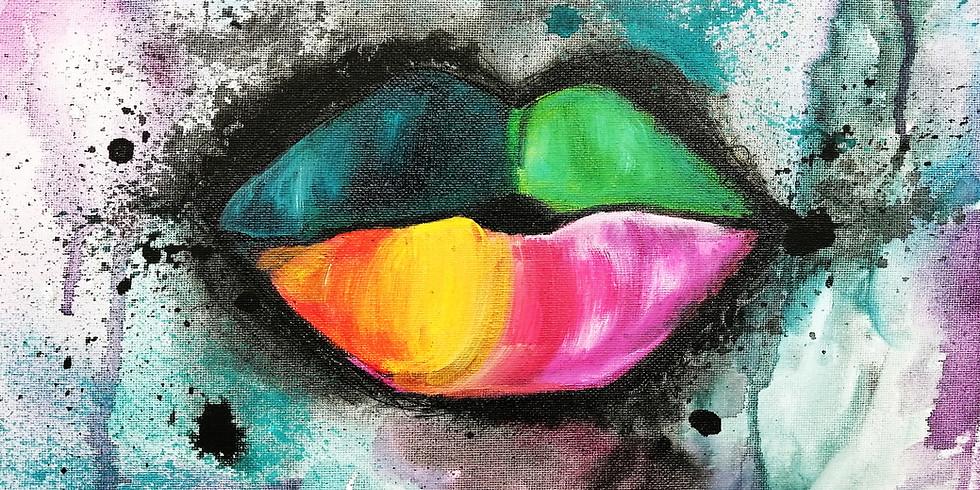 Soirée créative - Vin, plaisir et peinture. Travailler l'acrylique avec l'eau et crayon micron