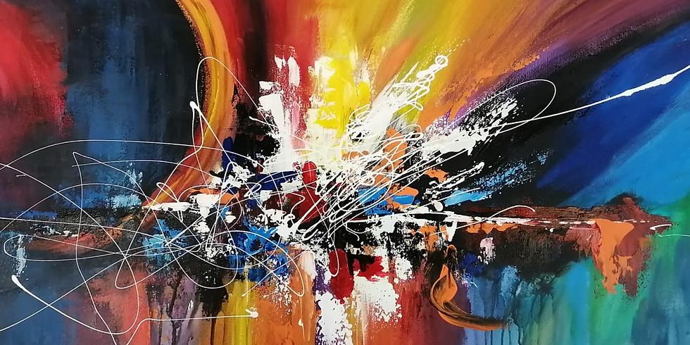 Supplémentaire Création d'une oeuvre abstraite grand format (30x40)