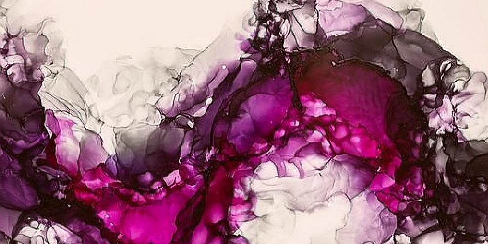 Soirée vin, plaisir et peinture - création d'une oeuvre à l'encre et alcool