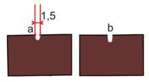 Dláto s dlouhou rukojetí pro hlubokou řezbu 1,5 mm