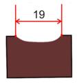 Dláto s dlouhou rukojetí začišťovací 19 mm