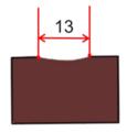 Dláto s kulovou rukojetí mělké 13 mm