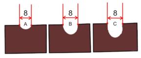 Dláto s dlouhou rukojetí pro hlubokou řezbu 8 mm