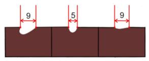 Dláto s dlouhou rukojetí univerzální 5 mm