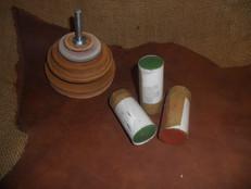Leštící kožený kotouč a brusné pasty