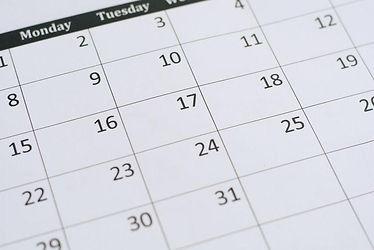A decorative calendar page