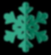 verde del copo de nieve