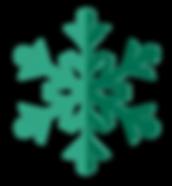 verde del fiocco di neve