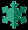 grüne Schneeflocke