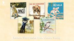 Dingo, Big Red Kangaroo, Koala, Emu, Kookaburra