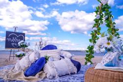 Romantic Beach or Picnic setting
