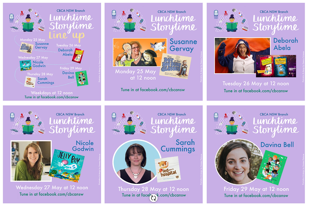 Lunchtime Storytime, Live! Week 5 Line-up