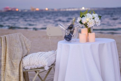 Dusk Beach Table setting