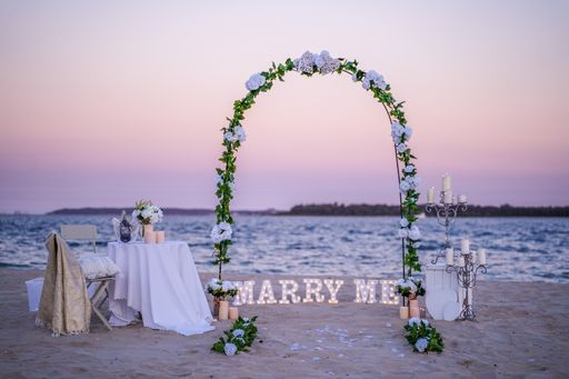 Romantic Elegant Beach Arbor
