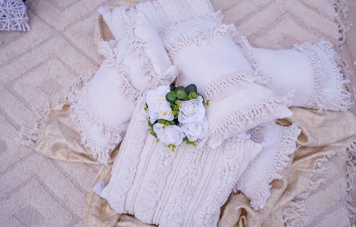 Beach Picnic in neutrals pillows