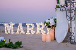 Dusk Beach Marry me