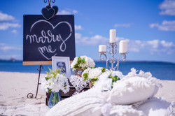 Marry me beach or Picnic Setting
