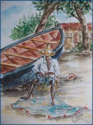 Le pêcheur et son filet
