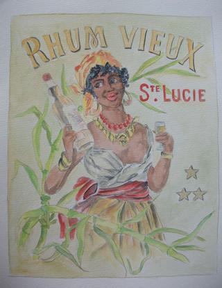 Rhum Sainte Lucie, d'après une ancienne pub