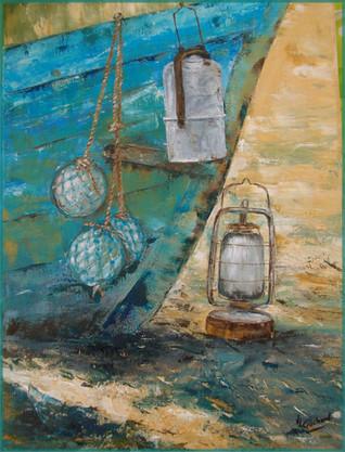 lampe et flotteurs