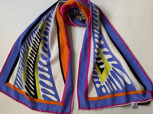 Emilio Pucci Mod Op Art Silk Scarf