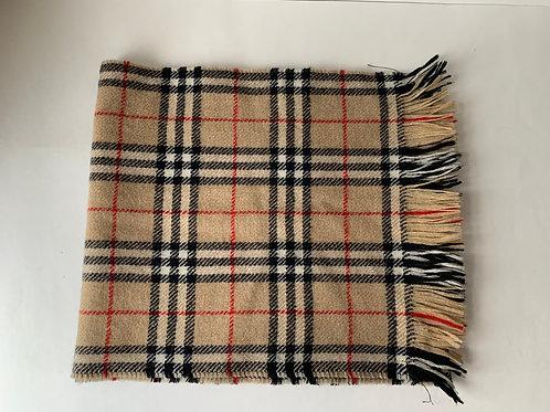 'Burberrys' Wool Novacheck Scarf