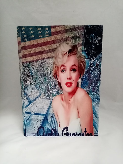 "SCATOLA LIBRO IN ECOPELLE ""MARILYN"""