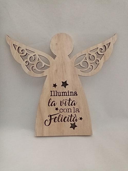 ANGELO LUMINOSO IN LEGNO
