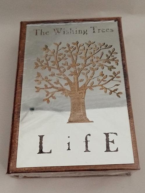 """SCATOLA LIBRO IN LEGNO CON COPERTINA A  SPECCHIO  """"THE WISHING TREES"""""""