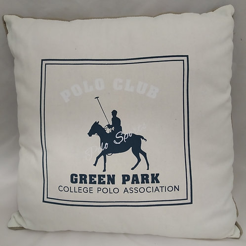 "CUSCINO COTONE ""POLO CLUB GREEN PARK"""