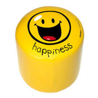 "POUF IN ECOPELLE ""HAPPINESS"""
