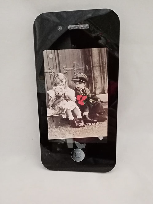"""PORTAFOTOGRAFIE """"I-PHONE"""" IN LEGNO"""