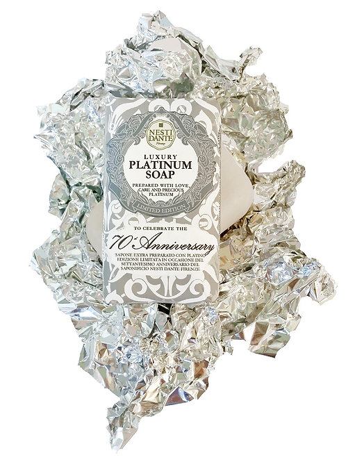 "SAPONE VEGETALE NATURALE "" LUXURY PLATINUM SOAP"" - NESTI DANTE - 250 G"