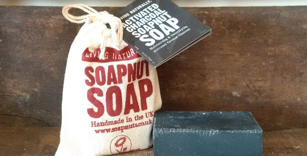 Activated Charcoal Soapnut Soap Bar, 90g