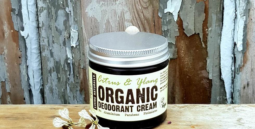 Living Naturally Økologisk Creme Deodorant - Citrus & Ylang 60g