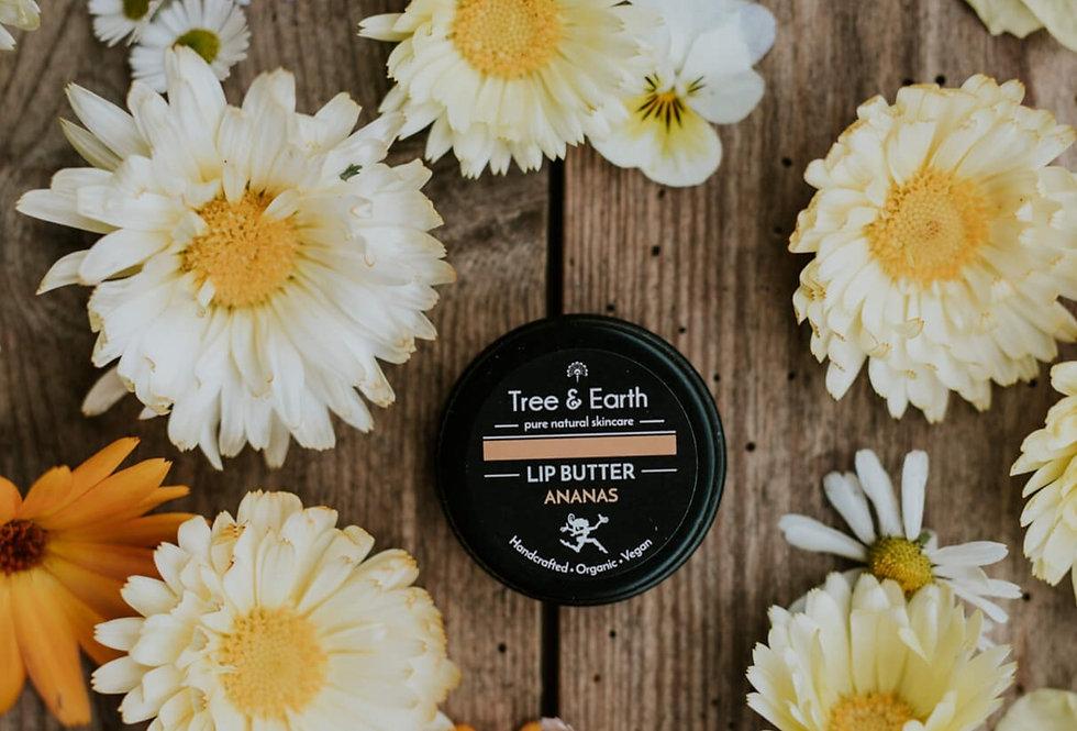 Lip Butter Ananas - Økologisk Læbepomade, 15ml