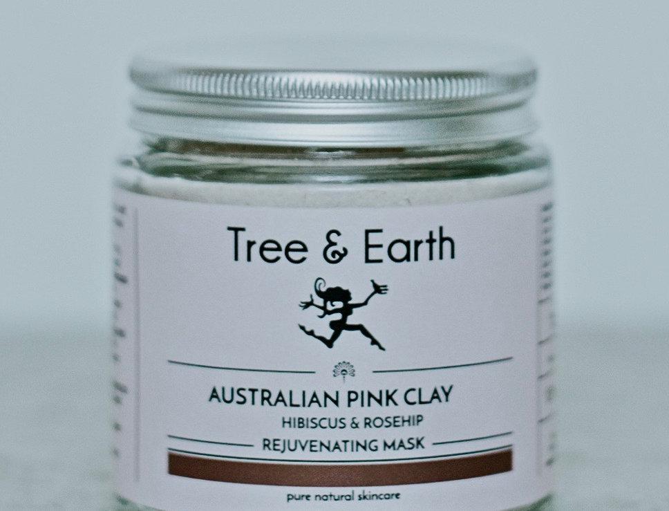 Rejuvenating Australian Pink Clay Mask, Hibiscus & Rosehip 120ml