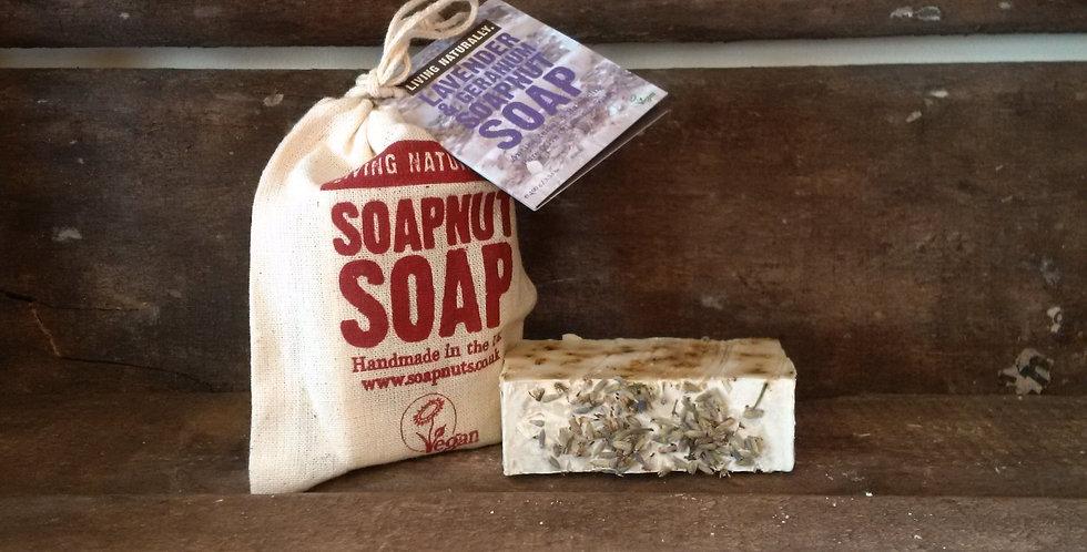 Lavendel & Geranium soapnut soap, Økologisk sæbe,  90g
