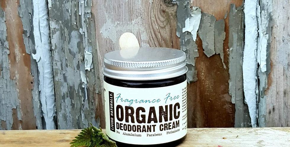 Living Naturally Organic Deodorant - Fragrance Free 60g