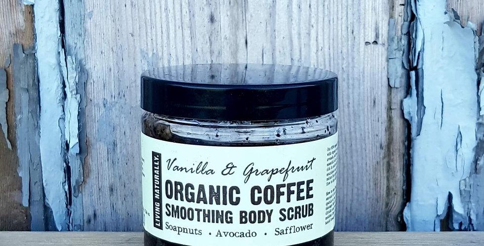 Organic Vanilla & Grapefruit Coffee Scrub, 200g
