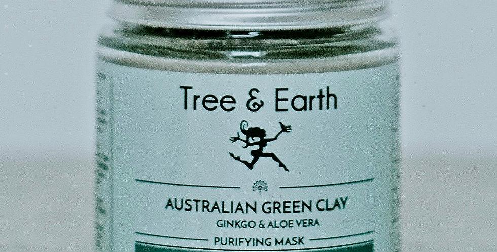 Purifying Australian Green Clay Mask, Ginkgo & Aloe vera 120ml