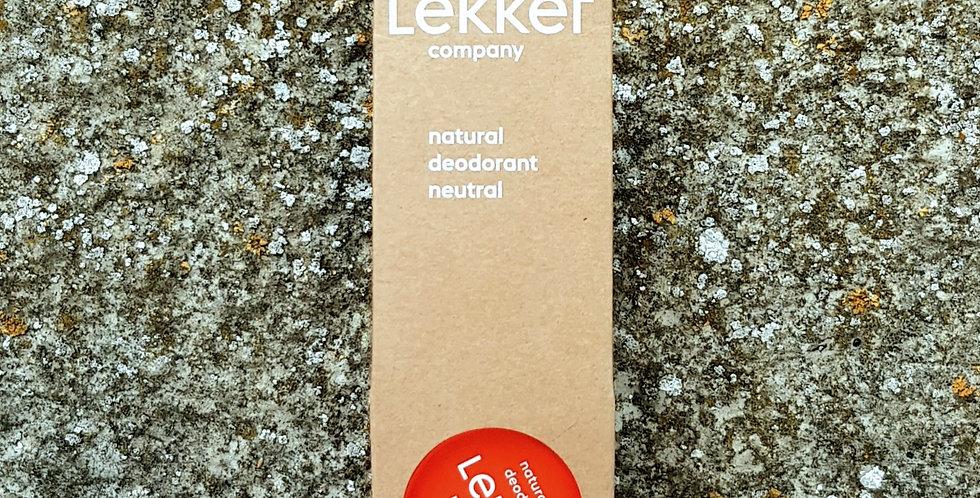 Lekker Cream Deodorant - Fragrance Free, 30ml