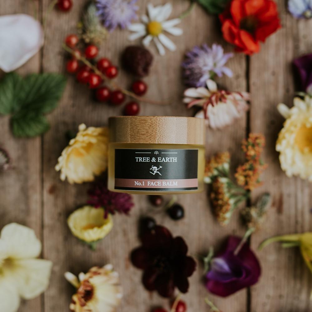 Tree & Earth No.1 Face Balm, organic face cream rich in antioxidants and sun protecting oils