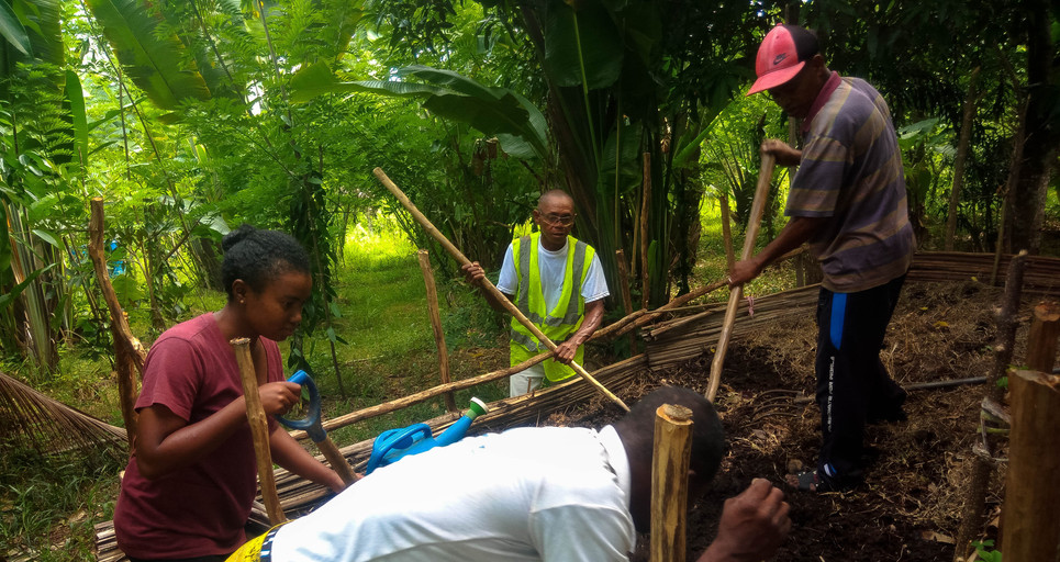 Préparation du compost