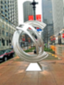 John Adduci sculpture, Loop Da Loop