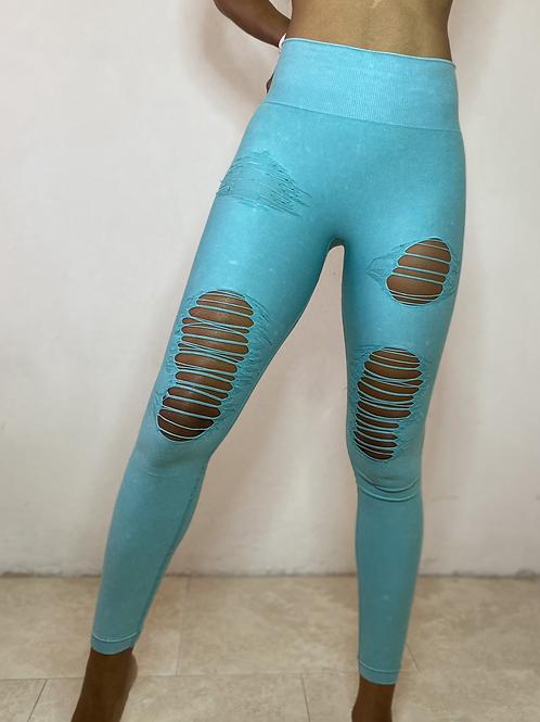 Demi Yoga Fit Highwaist Distressed Leggings
