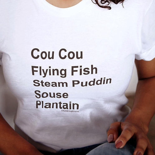 Nuh Broughtupsy Comfort Food Tee, V Neck or Tank Top