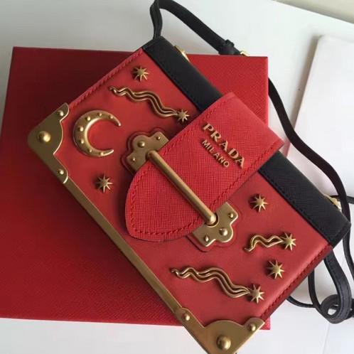a96d35bfeb9ee3 PRADA Cahier Astrology Velvet Shoulder Leather Bag