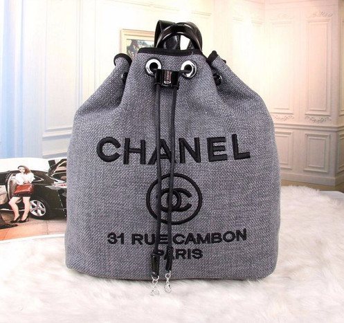 7e698256f045 CHANEL Deauville Denim Backpack Bag